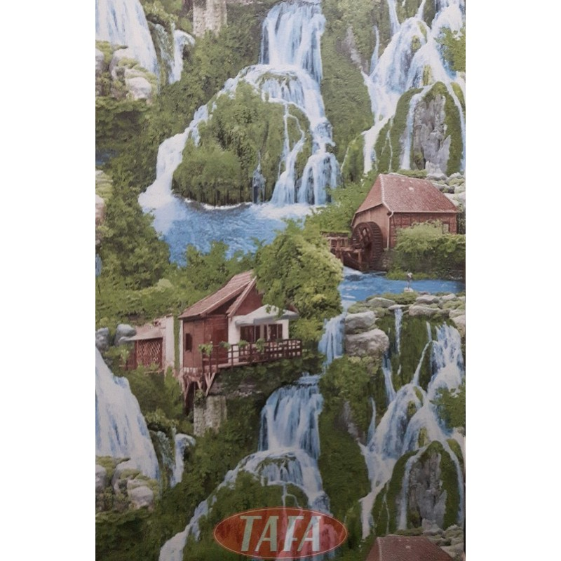 Tapeta młyn - wodospady