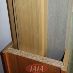 Ościeżnica tunelowa /opaskowa/ do drzwi składanych